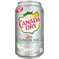 Canada Dry Diet Ginger Ale, 355 mL Cans, Case of 12