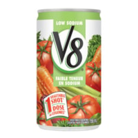 V8 Vegetable Juice, Low Sodium, 156 mL Can, 48/CS