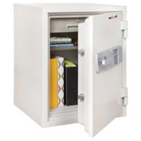 Coffre-fort ignifuge 1 1/2 heure FireKing, blanc arctique, 1 tiroir et 1 tablette