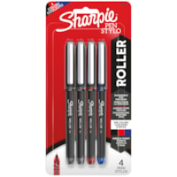 Sharpie Rollerball Pens, Assorted Colours, Needle 0.5 mm, 4/PK