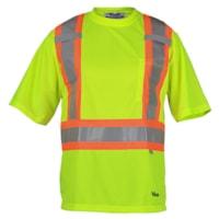 T-shirt de sécurité en polyester approuvé CSA 6006 Viking, vert, moyenne