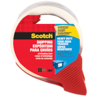 Scotch Heavy-Duty Shipping and Packaging Tape with Dispenser, 48 mm x 35 m