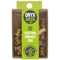 Punaises en bambou Onyx+ Green, emb. de 30