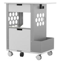 Safco Rolling Storage Cart, Glacier White