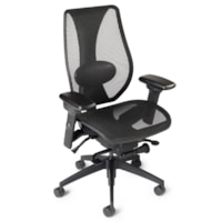 ergoCentric tCentric Hybrid Synchro Glide Ergonomic Office Chair, Black Mesh Seat/Back