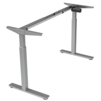 Offices To Go Ionic Electric Height-Adjustable 2-Leg Table Base, Silver