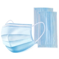 Globe Commercial Products 3-Ply Disposable Masks, Blue, Child Size, Box of 50