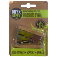 Onyx+ Green Bamboo Mini Stapler