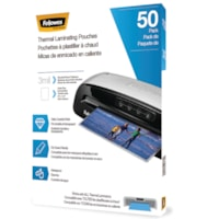 Fellowes Letter-Size Thermal Laminating Pouches, 3 mil, Pack of 50
