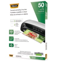 Fellowes Letter-Size Thermal Laminating Pouches, 5 mil, Pack of 50
