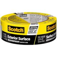 Ruban adhésif pour peintre pour surfaces extérieures 2097 Scotch, résistant aux intempéries, jaune, 36 mm x 41,1 m