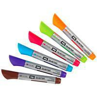 Marqueurs effaçables à sec de première qualité pour surfaces en verre Quartet, couleurs variées, emb. de 6