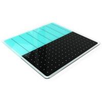 Tableau magnétique effaçable à sec en verre Glacier Viztex, planificateur et notes, sarcelle et noir, 14po x 14po