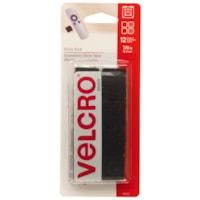 Attaches autocollantes carrées Velcro, noir, 7/8po, emb. de 12