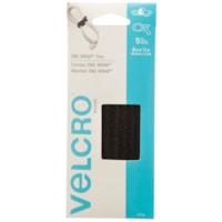 Velcro One-Wrap Ties, Black, 1/2