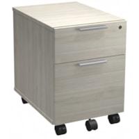 HDL Innovations Mobile File Pedestal, 2-Drawer, Winter Wood, 16