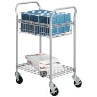 Chariot pour courrier métallique Safco, moyen, 24 po