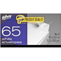 Hilroy Press-It Seal-It Envelopes, Open Side, White, #8, 3 5/8