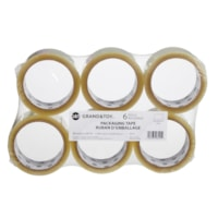 Grand & Toy Industrial Grade Packaging Tape, Clear, 48 mm x 50 m, 6/PK