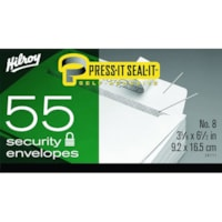 Hilroy Press-It Seal-It Envelopes with Security Tint, White, #8, 3 5/8