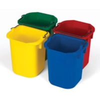 Rubbermaid Commercial Disinfecting Pails, Assorted Colours, 5 Quart, 4/PK