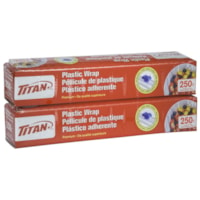 Titan Plastic Wrap with Slider, 11 1/2