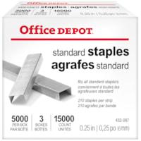 Office Depot® Standard Staples, 1/4