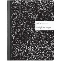 Cahier de composition à réglure large Office Depot, noir, 7 1/2 po x 9 3/4 po