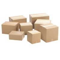Crownhill Corrugated Shipping Boxes, Plain Brown Kraft, 9