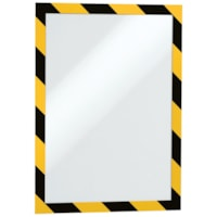 Durable Duraframe Security/Safety Sign Holder, Yellow/Black, Letter Size, 2/PK