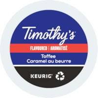 Timothy's® Single-Serve Coffee K-Cup Pods, Toffee, Box of 24