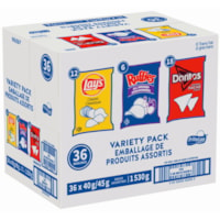 Lay's Chips Variety Pack, 40-45 g, 36/CT