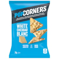 PopCorners Popped Corn Chips, White Cheddar, 28 g, 40/CT