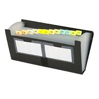Pochette de classement extensible en poly noir Filexec, format chèque (4po x 7po)