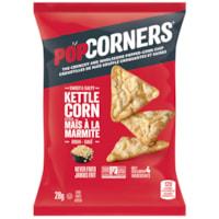 PopCorners Popped Corn Chips, Kettle Corn, 28 g, 40/CT