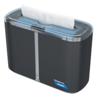 Cascades PRO Tandem Multifold Hand Towel Countertop Dispenser, Dark Grey