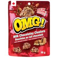 OMG! Milk Chocolatey Clusters, 98 g, 12/CS