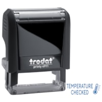 Trodat 4911 Covid-19 English Message Stamp, Temperature Checked