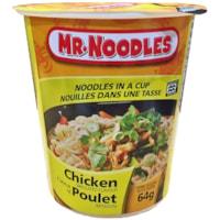 Nouilles instantanées dans une tasse Mr. Noodles, poulet, 64 g, caisse de 12