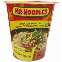 Nouilles instantanées dans une tasse Mr. Noodles, poulet épicé, 64 g, caisse de 12