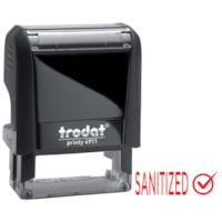 Trodat 4911 Covid-19 English Message Stamp, Sanitized