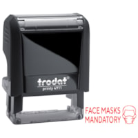 Trodat 4911 Covid-19 English Message Stamp, Face Masks Mandatory