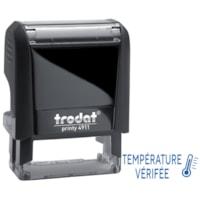 Trodat 4911 Covid-19 French Message Stamp, Température Vérifiée