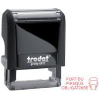 Trodat 4911 Covid-19 French Message Stamp, Port du masque obligatoire
