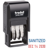 Trodat 4850 Covid-19 Self-Inking English Date Stamp, Sanitized
