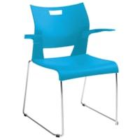 Global Duet Stacking Armchair, Buzz Blue
