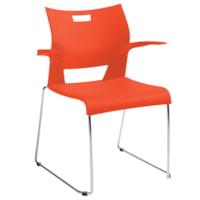 Global Duet Stacking Armchair, Carrot Orange