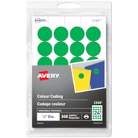 Avery Non-Printable Removable Colour-Coding Labels