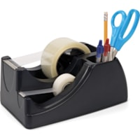 Officemate 2-in-1 Tape Dispenser, Black