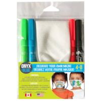Décorez votre propre masque Onyx+ Blue, 4-8 ans